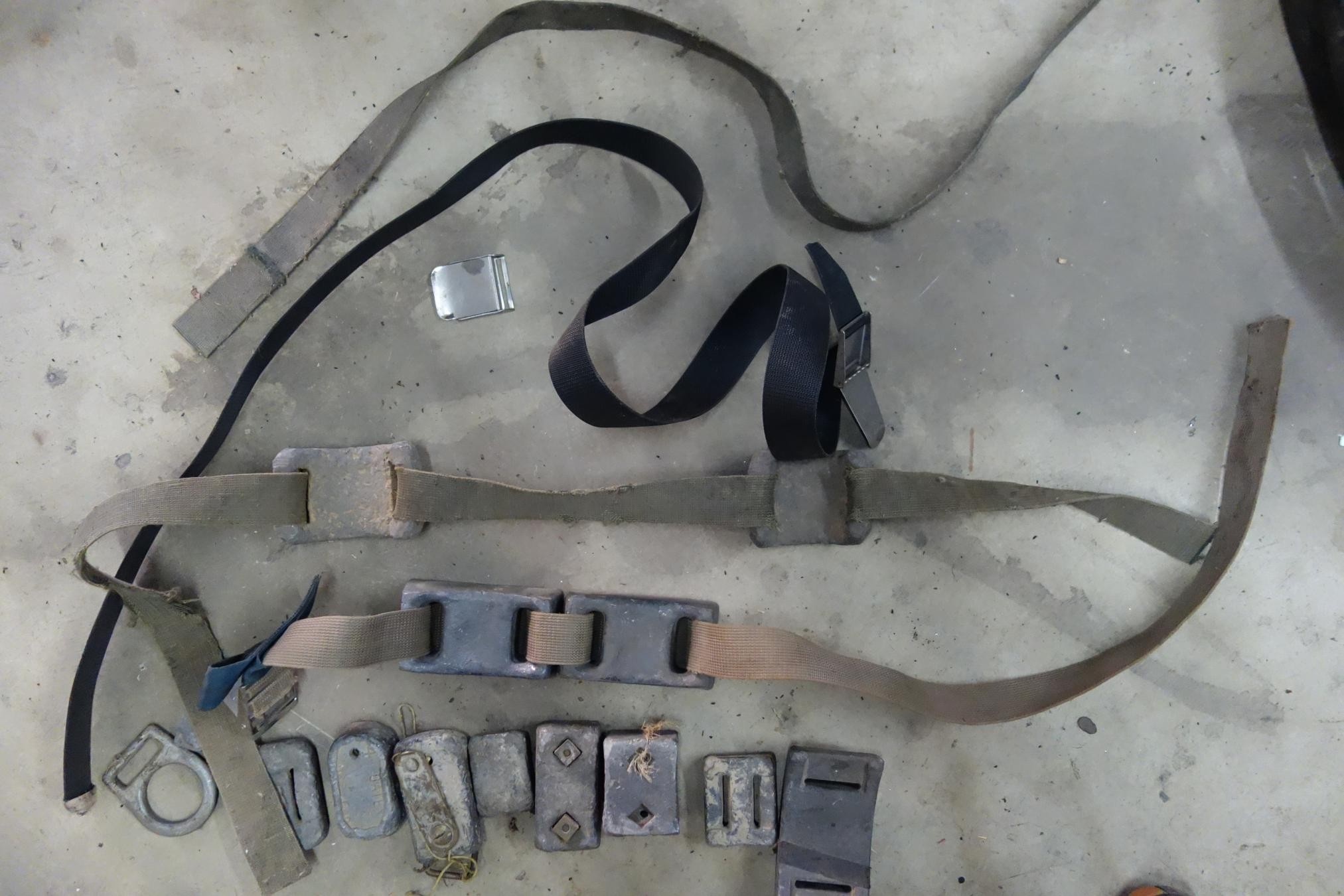 Lot of Diving Weights, Belts